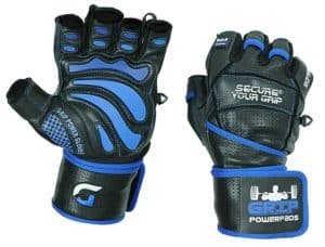 Grip Power Pads Elite Leather Gym Weight Lifting Gloves