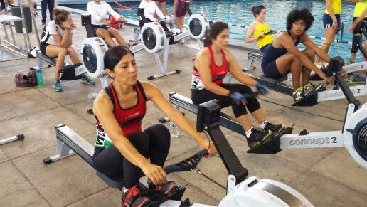 indoor rowers and gym