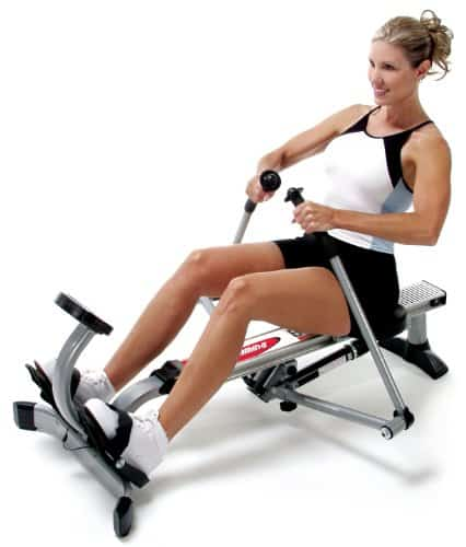 how to tone up with a rowing machine