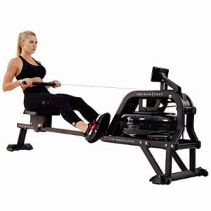 water rowing machine with water system