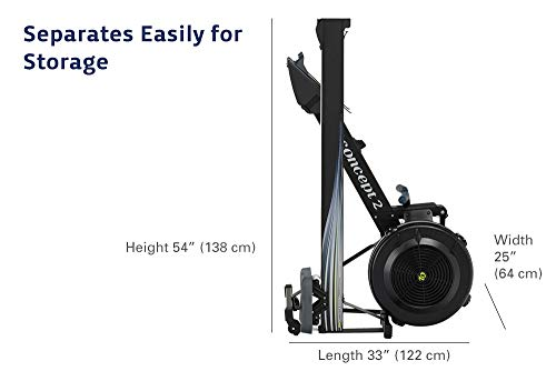 rower that separates easily for storage