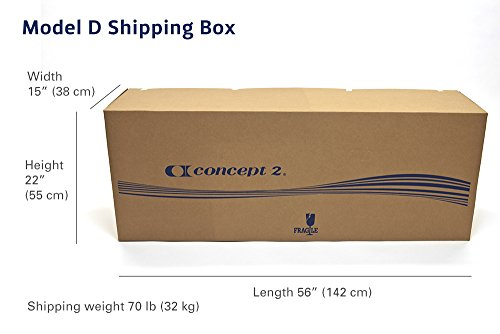 model D shipping Box weight