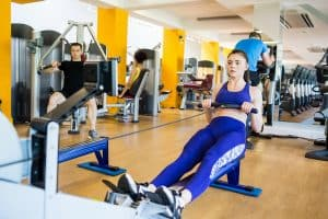 try a high intensity cardio workout 2 times per week to burn fat