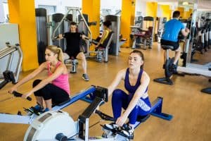 Home rowing machine and muscle tone
