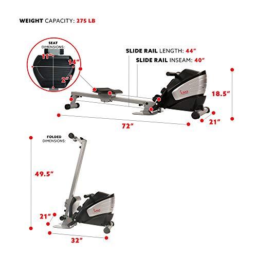 sunny health rowing machine weight capacity