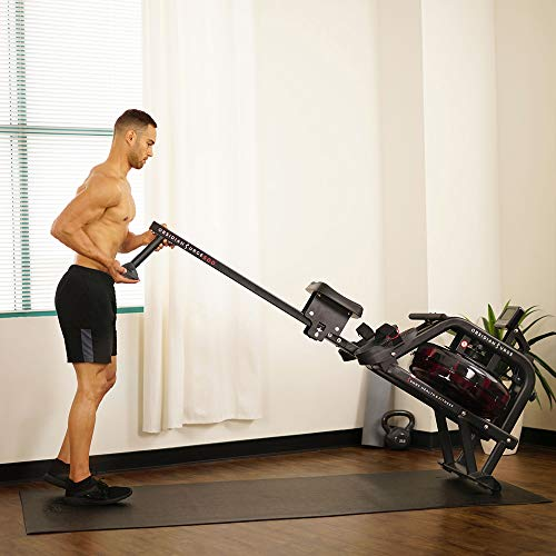 sunny health rower easy to move and store