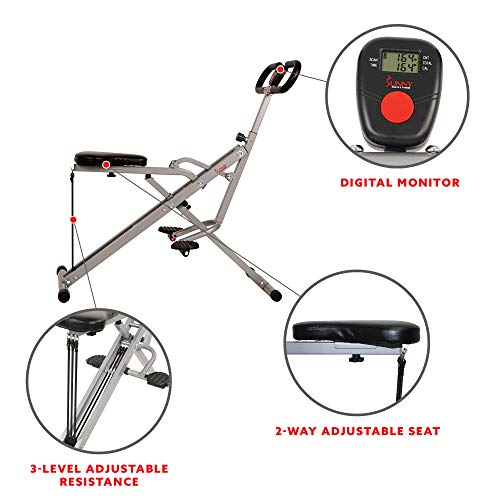 sunny health fitness compact rowing machine - air rower