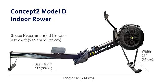 inseam measures on a rowing machine for your height