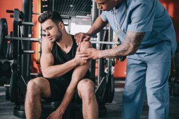 man learning torn labrum shoulder exercises