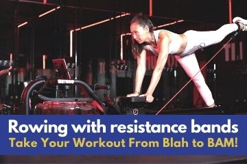 resistance band rowing machine