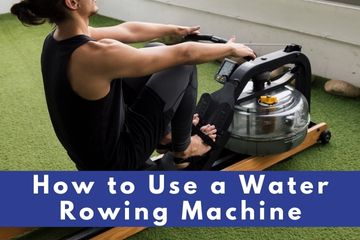 how to use a water rowing machine